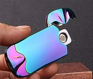 Electric Arc Lighter - Windproof Dual Arc Plasma Lighter - USB Rechargeable Dual Pulse Electronic Lighter - Flameless Plasma Beam Lighter