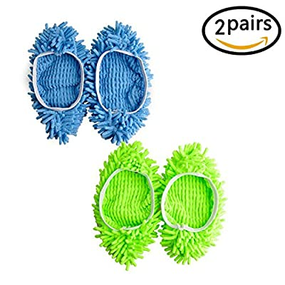 Mop Slippers - Polishing Dusting Cleaning Foot Socks Shoes Mop