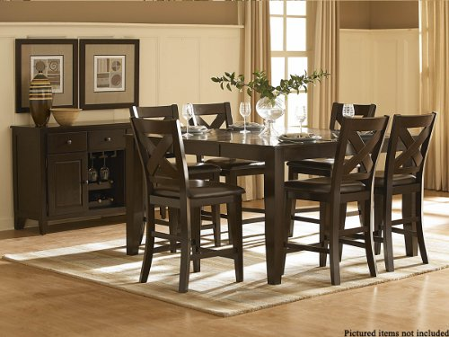 Crown Point 5 PC Counter Height Dining Set by Homelegance in Merlot