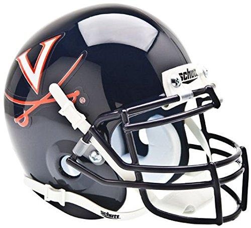 VIRGINIA CAVALIERS NCAA Schutt XP Authentic MINI Football Helmet UVA (Helmet Mini Virginia Authentic Cavaliers)