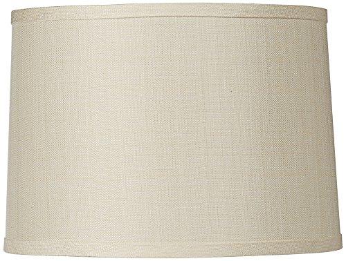 Cream Linen Blend Hardback Drum Shade 15x16x11 (Spider)