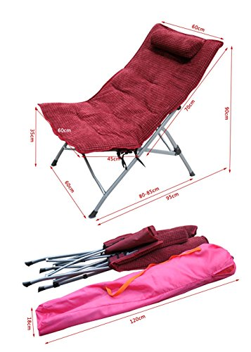 Lunch break chair / recliner Office nap chair / folding chair / single lounge chair / backrest chair ( Color : D ) by Folding chair (Image #1)