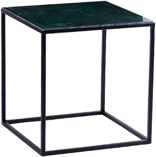 Mesa Lateral Cuadrada/Mesa de té de Hierro Forjado, Panel de ...