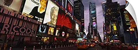 Canvas On Demand Wall Peel Wall Art Print entitled Buildings lit up at night, Times Square, Manhattan, New York City, New York (72 Hours New York Times)
