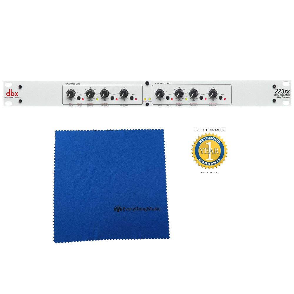dbx 223xs Stereo 2-Way/Mono 3-Way Crossover with Microfiber and Free EverythingMusic 1 Year Extended Warranty