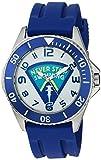 eWatchFactory Men's 'Shark Week' Quartz Stainless Steel and Rubber Sport Watch, Color:Blue (Model: WDC000069)