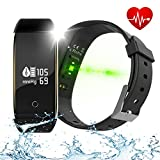 TOPWRX Fitness Tracker HR, V9 Activity Tracker with Heartbeat/Blood Pressure/Oxygen/Step Counter and Calorie Counter Watch Pedometer, Sleep Monitor Watch for Kids Women Men