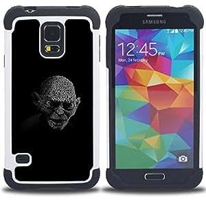 """Hypernova Híbrido Heavy Duty armadura cubierta silicona prueba golpes Funda caso resistente Para SAMSUNG Galaxy S5 V / i9600 / SM-G900 V SM-G900 [My Precious Gollum""""]"""