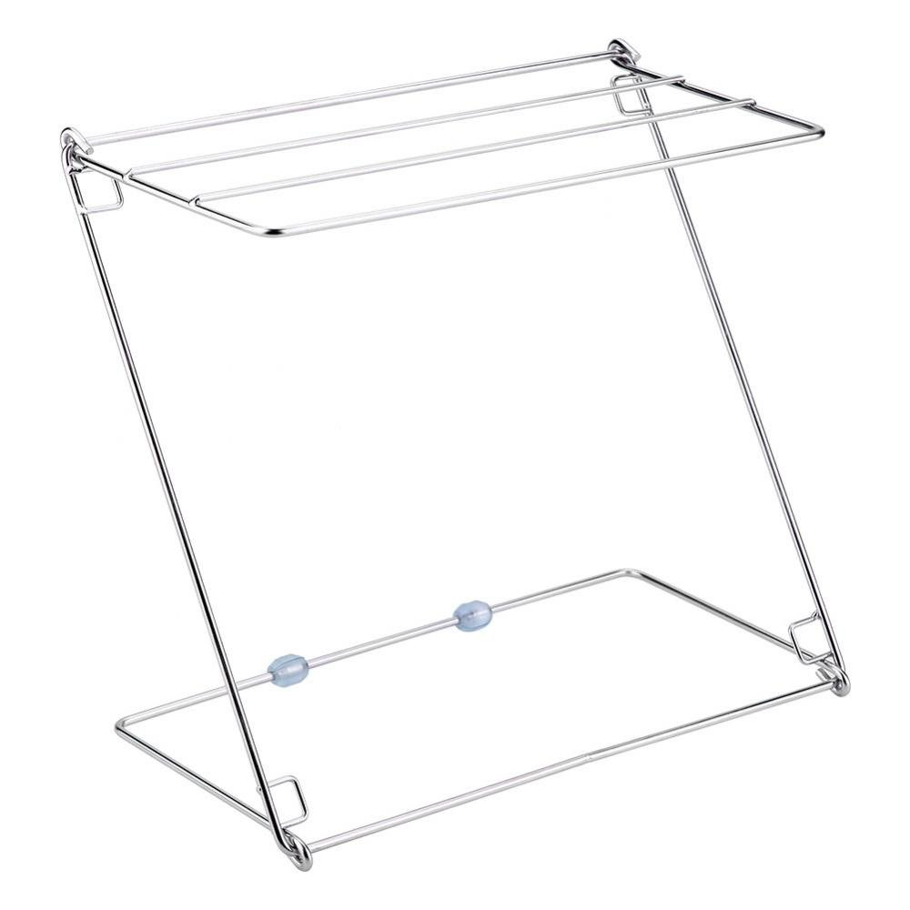 Foldable Stainless Steel Towel Stand Rack, Foldable & Easy Storage with 4 Layers for Kitchen and Bathroom Huhushop