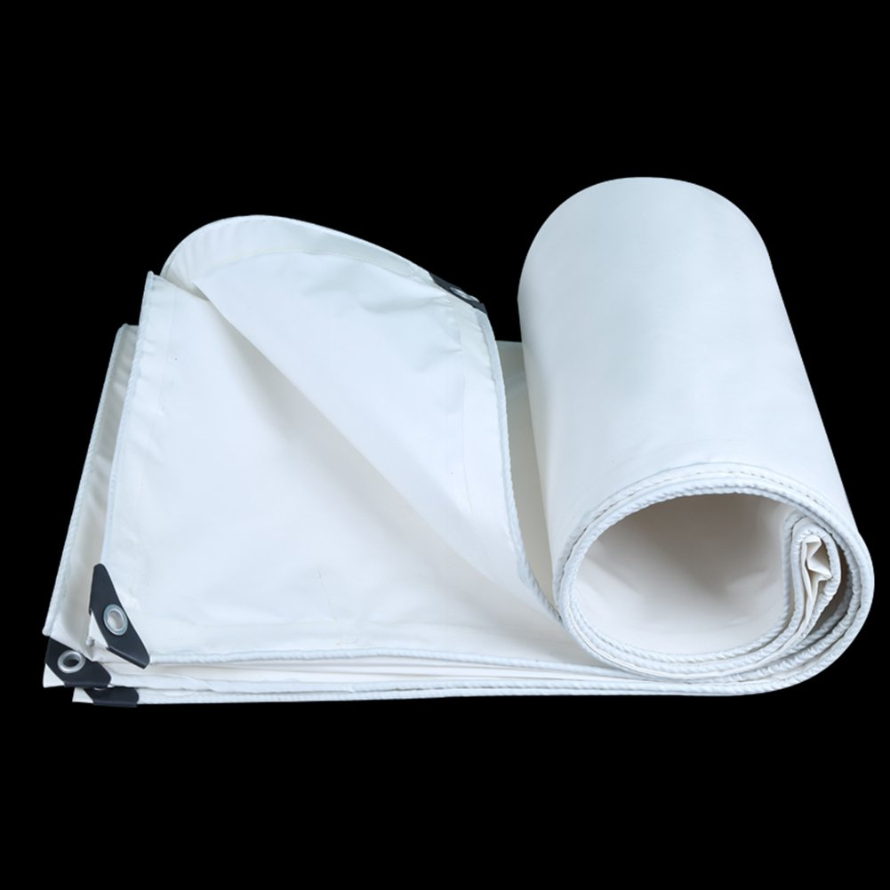 CHAOXIANG オーニング 厚い 両面 防水 日焼け止め 耐高温性 耐寒性 耐摩耗性 耐食性 防塵の PVC、 3色、 350g/m 2、 厚さ 0.35mm、 21サイズ (色 : 白, サイズ さいず : 4×7m) B07DBNV17X 4×7m|白 白 4×7m