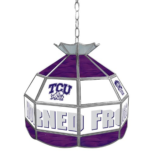NCAA Texas Christian University Tiffany Gameroom Lamp, 16'' by Trademark Gameroom
