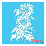 Sunflower Duo - DIY Craft Stencil -Multipack (L, XL, MG)