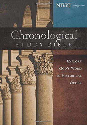NIV, Chronological Study Bible, Hardcover