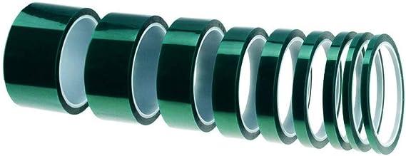 (5mm~90mm)High Temperature Heat Resistant Insulation PET Green Tape (33 Meter)