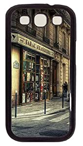 Tabac Brasserie PC Case Cover Compatible with Samsung Galaxy S3 S III I9300 Black