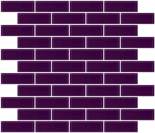Susan Jablon Mosaics - 1x3 Inch Lavender Purple Glass Subway Tile (Tile Purple)