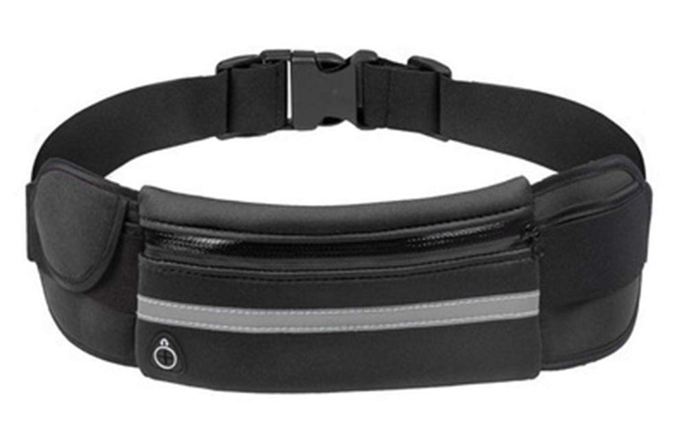 g-oo-d Running Waist Belt with Water Bottle Holder High-Capacity with Reflective Strip for Jogging Running Walking Cycling Hiking Fit for Men and Women Comes in 5 Stylish Colors