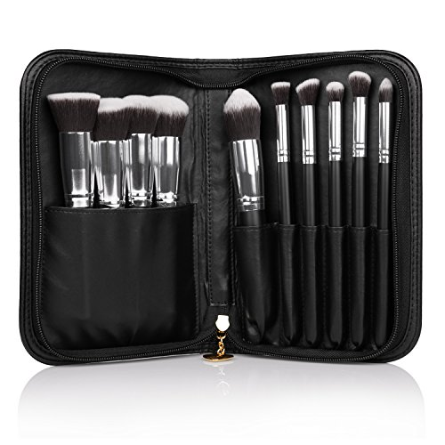 DUcare 10Pieces Professional Makeup Brush Set with Cosmetics Case by DUcare