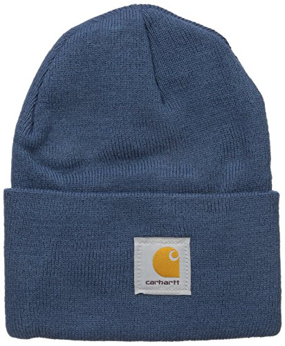 Review Carhartt Men's Acrylic Watch Hat A18, Dark Blue, One Size