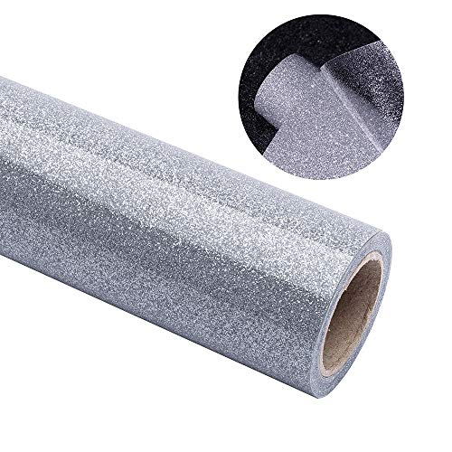 (tiptopcarbon Glitter Heat Transfer Vinyl Iron on HTV Vinyl for Tshirt Garment Bags 12