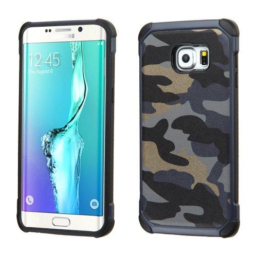 (Samsung Galaxy S6 Edge Plus Case, JoJoGoldStar [Anti-slip] [Perfect Fit] Hybrid Slim Fit Heavy Duty Polycarbonate & Silicone TPU Astronoot Hard Cover + Screen Protector + Stylus (Camo Navy)