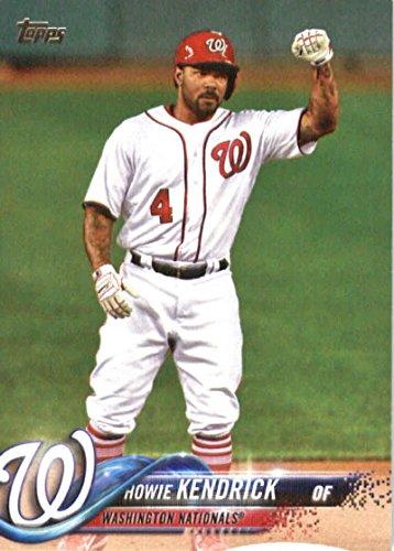2018 Topps #83 Howie Kendrick Washington Nationals Baseball Card (Card Nationals Washington)