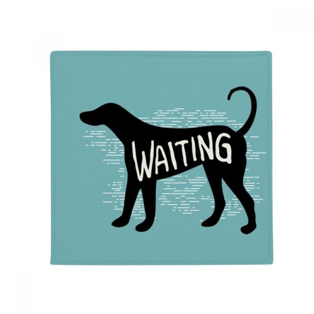 DIYthinker Black Animal Dog Silhouette Natural Anti-Slip Floor Pet Mat Square Home Kitchen Door 80Cm Gift
