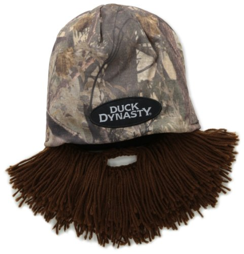 Beard Head Duck Dynasty Camouflage Short Beard Beanie, Brown, One (Duck Dynasty Mens Jase Costumes)