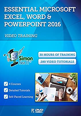 Essential Microsoft Office 2016 Training - 30 Hours of Video Tutorials for Excel, Word, and PowerPoint 2016