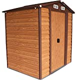 6'x5' Garden Storage House Tool Shed Outdoor Steel Utility Yard Building Lawn + FREE E-Book