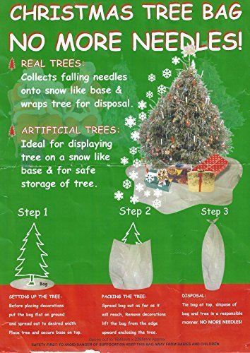 Christmas Tree Disposal.Christmas Tree Bags Needle Free Solution Making Tree Removal Easy Made In Uk