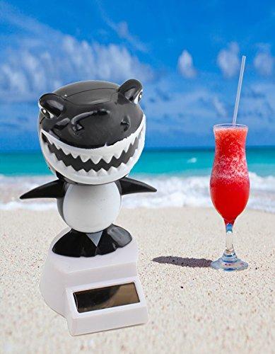Solar Toy ~ Cool Dancing Shark Bobble Head Car Dash Home Decor US Seller Mixed ()