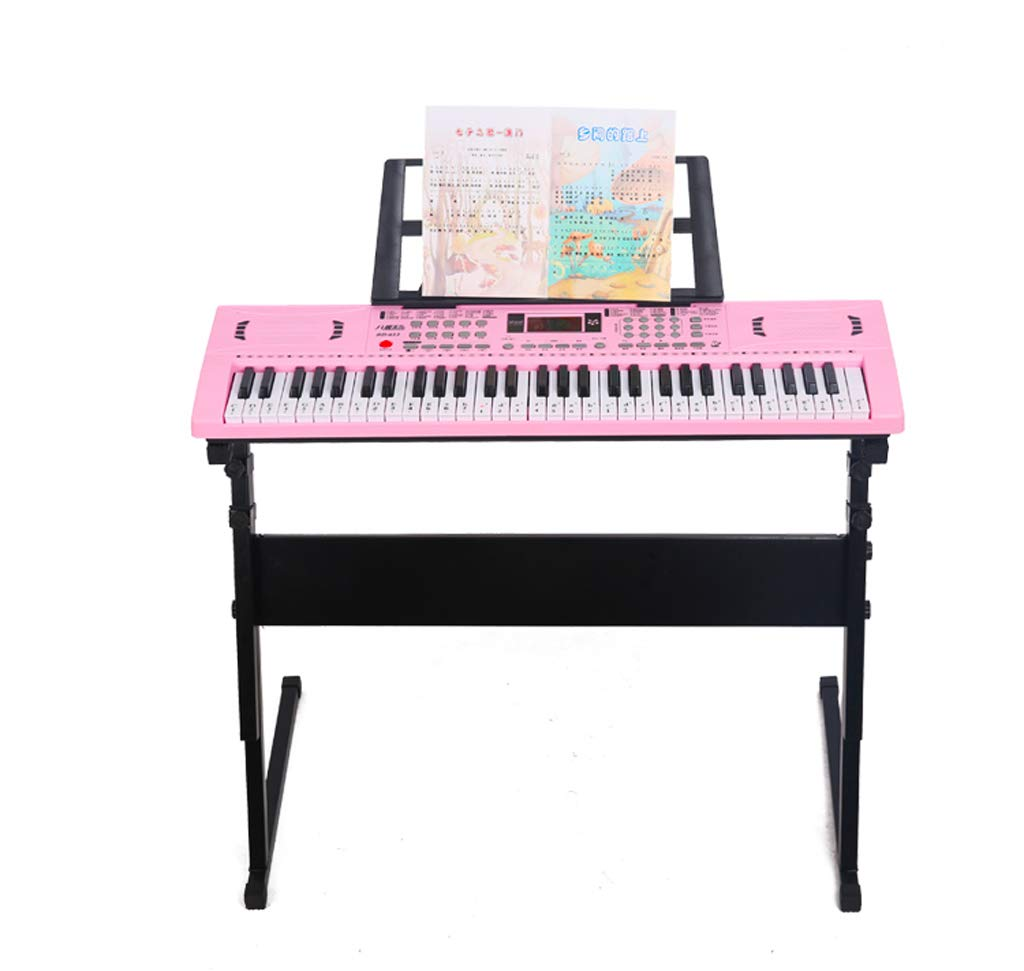 LIUFS-Piano Children's Intelligent Keyboard Lighting with The Girl Piano Beginner 3-12 Years Old Multi-Functional Student Teaching Toys (Color : Pink)