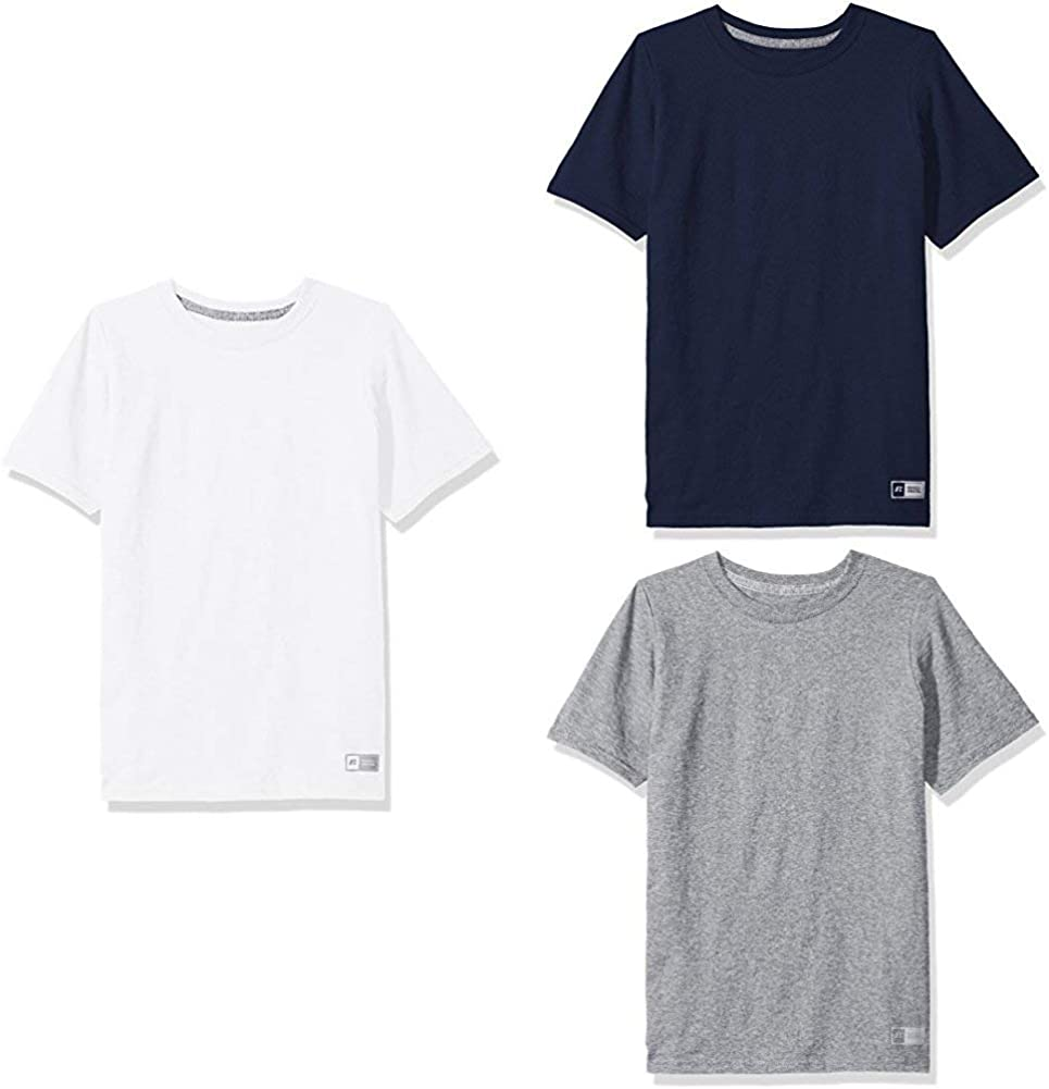 Russell Athletic Big Boys' Cotton Performance Short Sleeve T-Shirt: Clothing