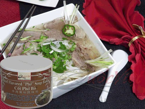 Quoc Viet Foods Beef Flavored PHO Soup Base, 10 oz. Jar, 1 (Flavored Beef)