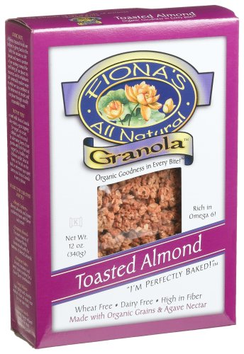 UPC 852872000585, Fiona's All Natural Granola, Organic Toasted Almond, Wheat-Free, 12-Ounce Boxes (Pack of 6)