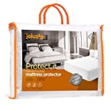 QUEEN Size joluzzy 100% Waterproof / 100% Cotton / Quilted Mattress Pad, - Hypoallergenic / Vinyl-free / Breathable / Noiseless Mattress Protector,