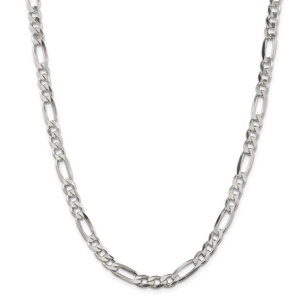Sterling Silver 6.5mm Figaro Chain