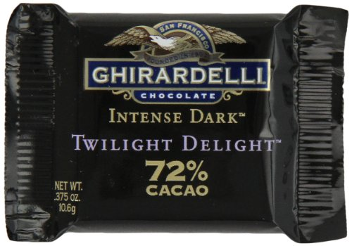 Ghirardelli Chocolate Intense Dark Squares, Twilight Delight 72% Cacao, 0.375-Ounce Squares (Pack of 540) by Ghirardelli