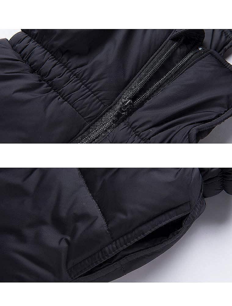 ARAUS Veste en Duvet pour Enfants B/éb/é Hiver /épais 2 Pi/èces Doudoune /à Capuche en Duvet de Canard Chaud dhiver Fille et Gar/çon Veste Blouson Manches Longues Ski 1-5 Ans