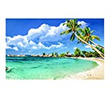 5D DIY Diamond Painting kit Rhinestone Embroidery Cross Stitch Arts for Craft Home Wall Decor Tropical Beach Palm Tree