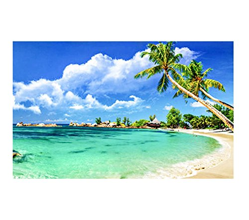 5D DIY Diamond Painting kit Rhinestone Embroidery Cross Stitch Arts for Craft Home Wall Decor Tropical Beach Palm - Tree Palm Diamond Tropical