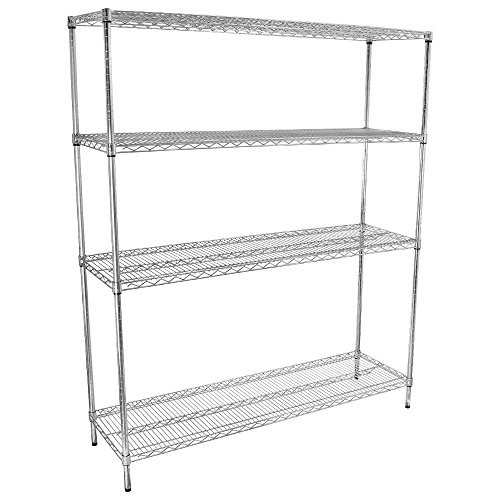 Gusto - 18'' x 60'' Chromate-Finished Adjustable Shelving Kit by Gusto Equipment