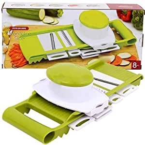 8 PIECE PIECE FOOD CHOPPER, FOOD SLICER, VEGETABLE AND FRUIT SLICER, FOOD DICER WITH STAINLESS STEEL BLADES, MAGIC SECOND SLICER-PERFECT SLICER