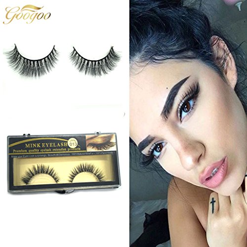 c366c99533c Googoo Luxurious 100% Real Mink 3D Natural Cross Thick False Eyelashes Fake  Eye Lashes Hand-made 3D Style 1 Pairs - Buy Online in Oman. | Misc.