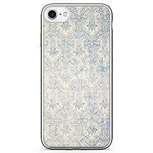 iPhone 7 Transparent Edge Phone Case Elegant Phone Case Grey And Blue iPhone 7 Cover with Transparent Frame