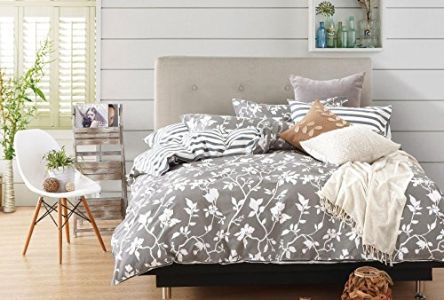 Cheap  Swanson Beddings Leafy Vines 3-Piece 100% Cotton Bedding Set: Duvet Cover and..