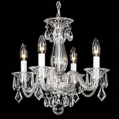 Schonbek 6994CL Swarovski Lighting Allegro Chandelier, Silver