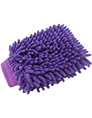 Microfiber Car Cleaning Clay BarCar Detailing Chenille Glove Mitt Ultrafine Microfiber Household Auto Care Washing Cloth (Color : Random colors)