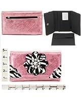 Wallet ~ Zebra Print Flower ~ Pink